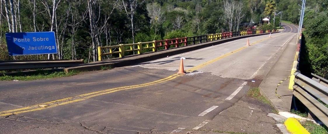 OUÇA: Estado não descarta interdição, caso problema se agrave na cabeceira da ponte