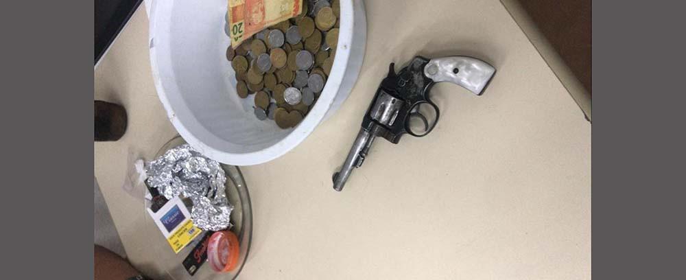 PM apreende arma de fogo, drogas e prende duas pessoas em Seara