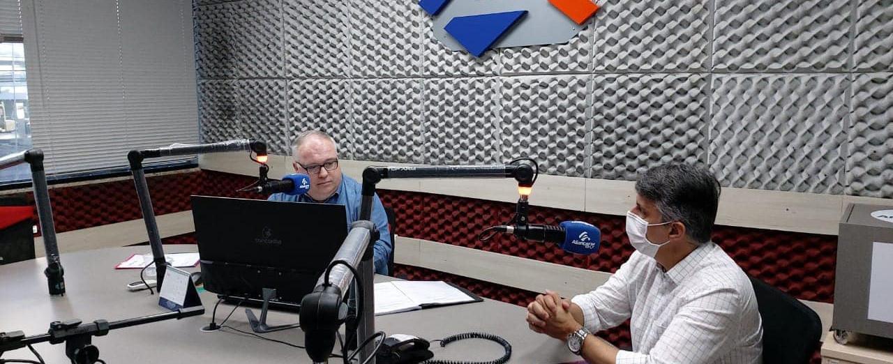 OUÇA: Pacheco fala sobre pandemia e construção da segunda pista na Tancredo Neves