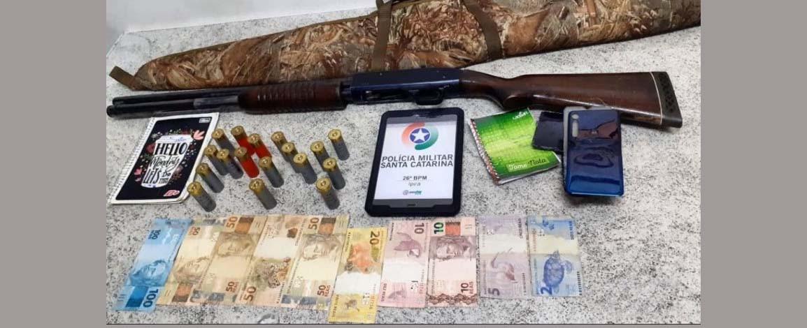 Polícia Militar prende em Ipira, suspeito por tráfico de drogas e homicídio