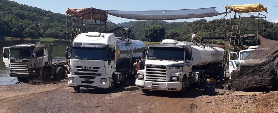 BRF inicia o transporte de água com caminhões