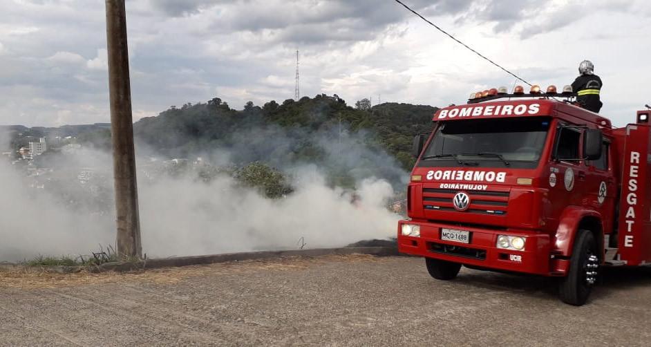 Dois incêndios em vegetação foram registrados em Concórdia no fim de semana