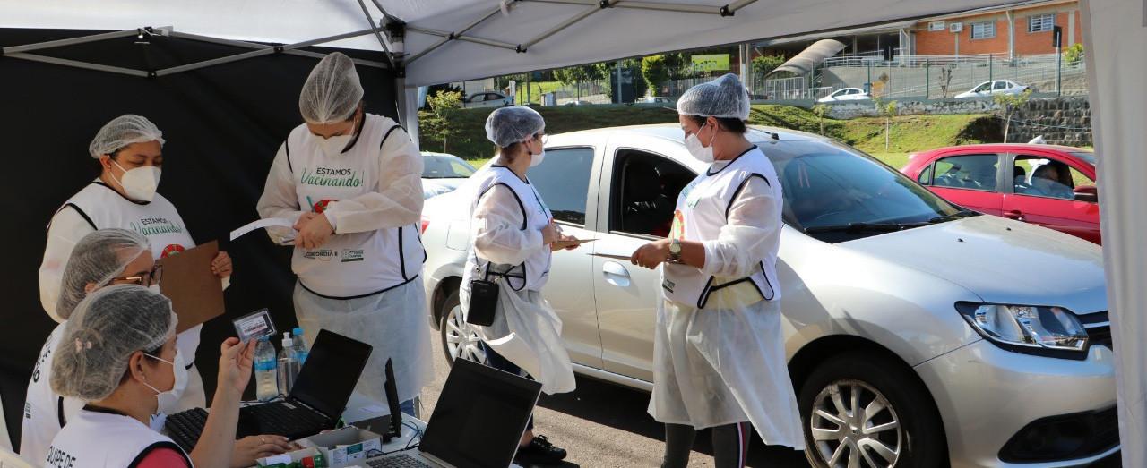 Saúde de Concórdia realiza imunização da segunda dose da Coronavac nesta terça