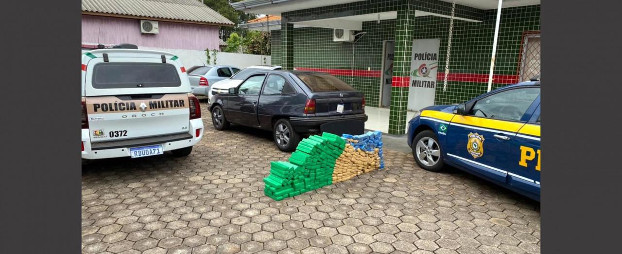 Homem é preso com 167 quilos de maconha em Pinhalzinho