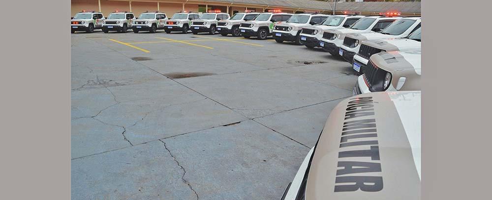 Municípios da Amauc recebem novas viaturas da Polícia Militar