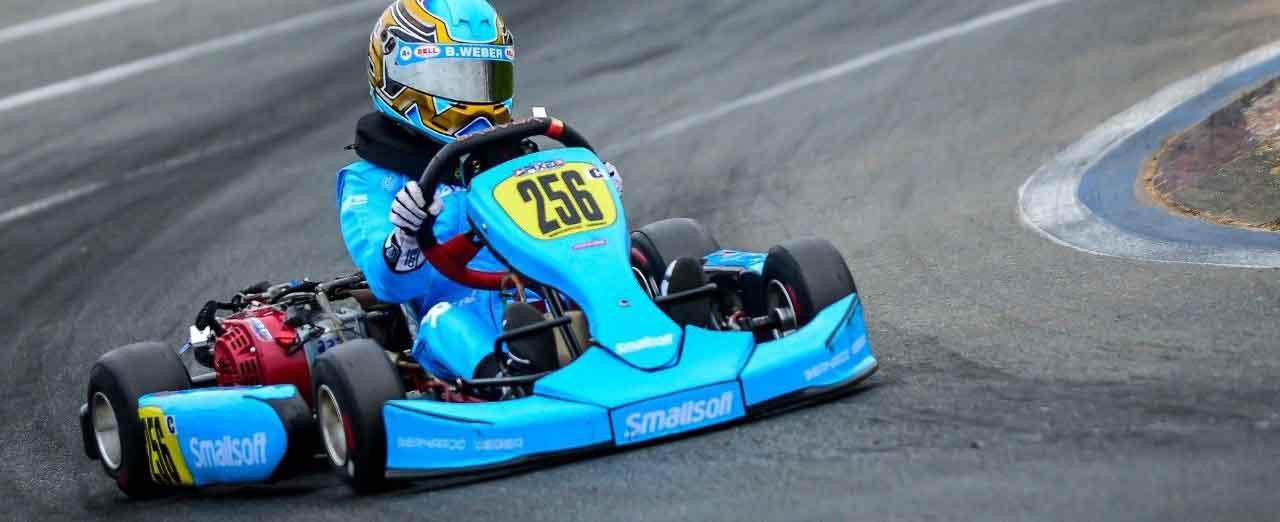Piloto concordiense Dagnor Schneider vence bateria da Copa SPR de Kart no Beto Carrero