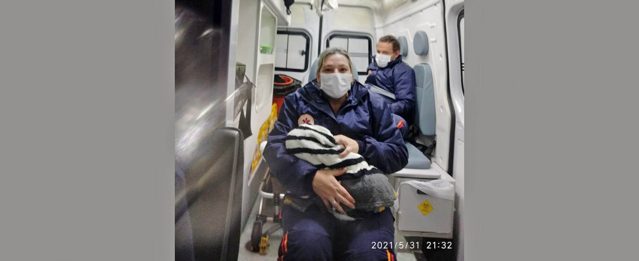 Jovem de 21 anos dá a luz em casa com ajuda da sogra em Concórdia