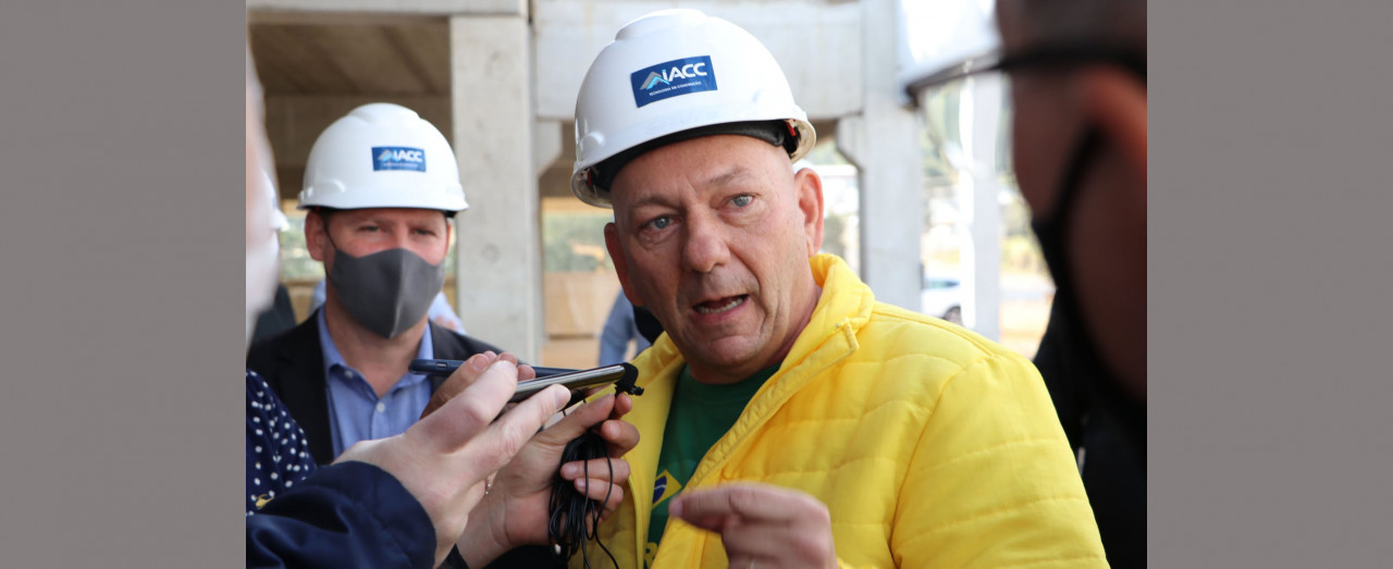 OUÇA: Durante sua passagem por Concórdia, Hang elogiou Bolsonaro e criticou o PT e a CPI