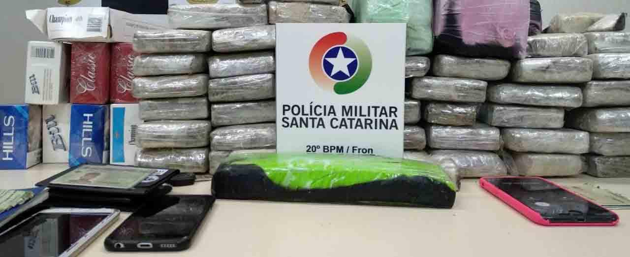 Três detidos pela PM com maconha em Peritiba na sexta-feira permanecem presos