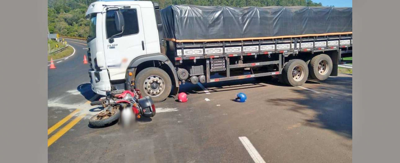 Caminhão com placas de Seara se envolve em acidente com morte em Quilombo
