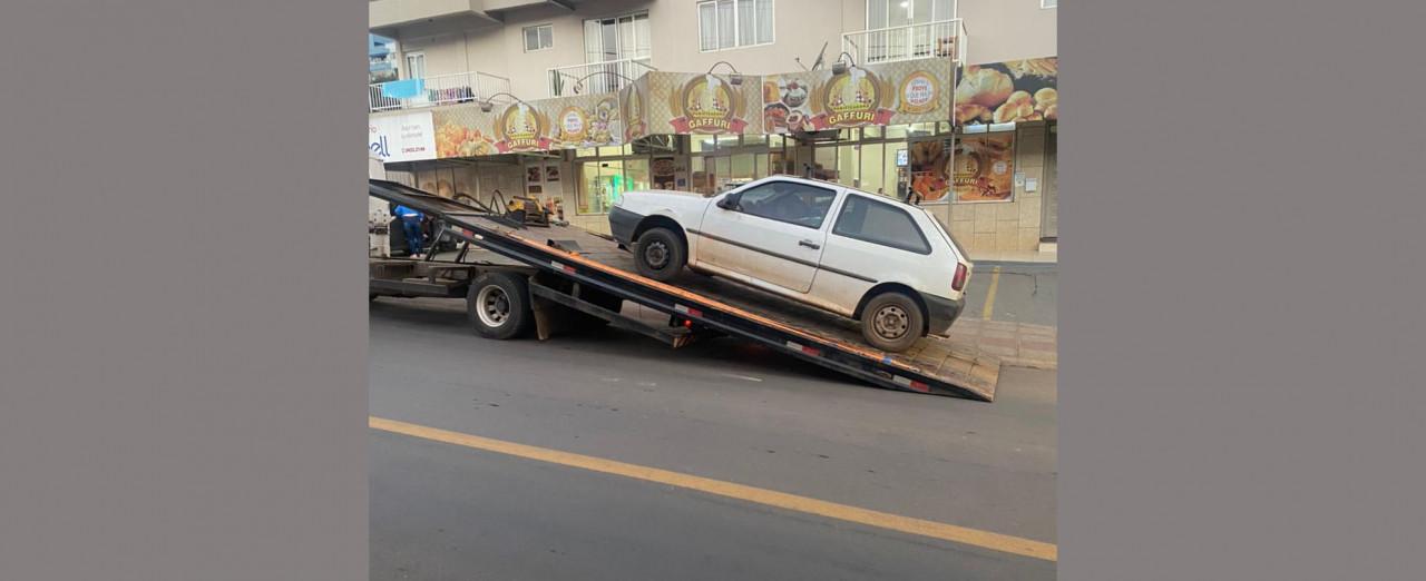 PM apreende veículo que participou de infração gravíssima de trânsito em Seara