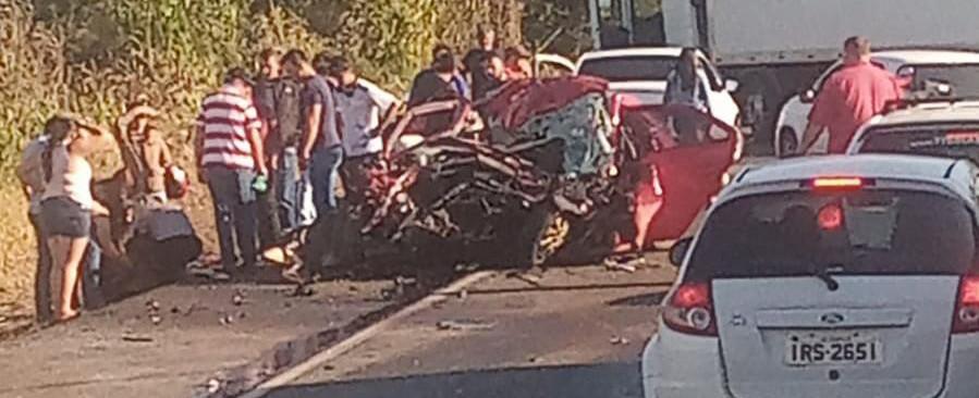 Acidente mata família na BR 282 entre Xaxim e Cordilheira Alta