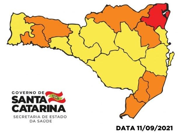 """Região se mantém no nível """"Alto"""" no Mapa de Risco pela segunda semana consecutiva"""