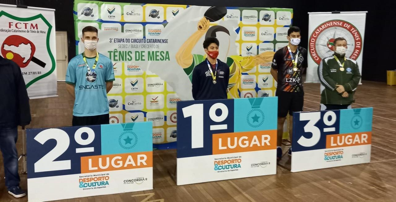 Tênis de Mesa de Concórdia conquista o título em duas competições no fim de semana