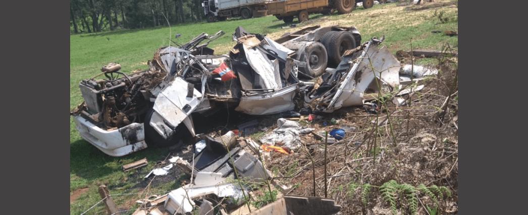 Caminhoneiro morre em grave acidente em Água Doce