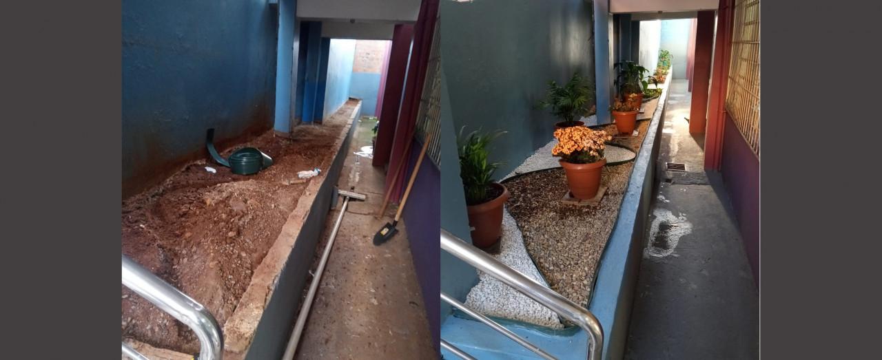 Escola do Bairro Santa Rita realiza revitalização ambiental
