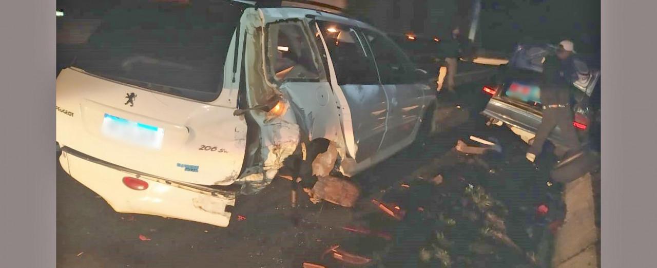 Carro de Xavantina conduzido por menor de idade se envolve em acidente em Xanxerê