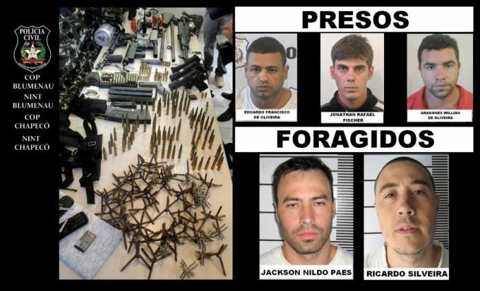 Grupo que assaltava na região é preso em Chapecó