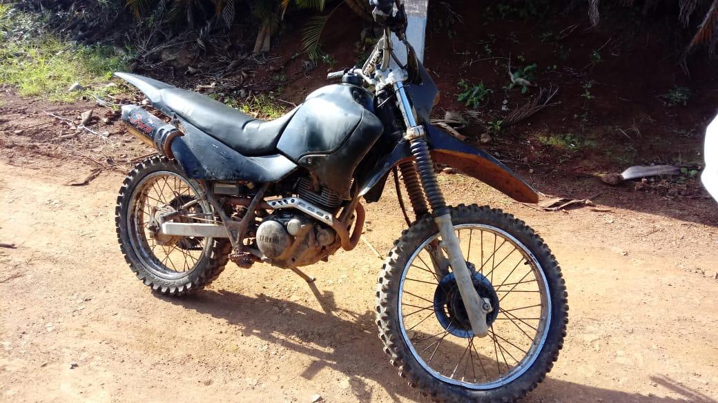 Polícia Militar de Piratuba recupera motocicleta furtada
