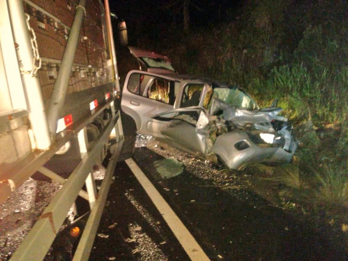 Caminhão com placas de Concórdia se envolve em acidente em São Joaquim