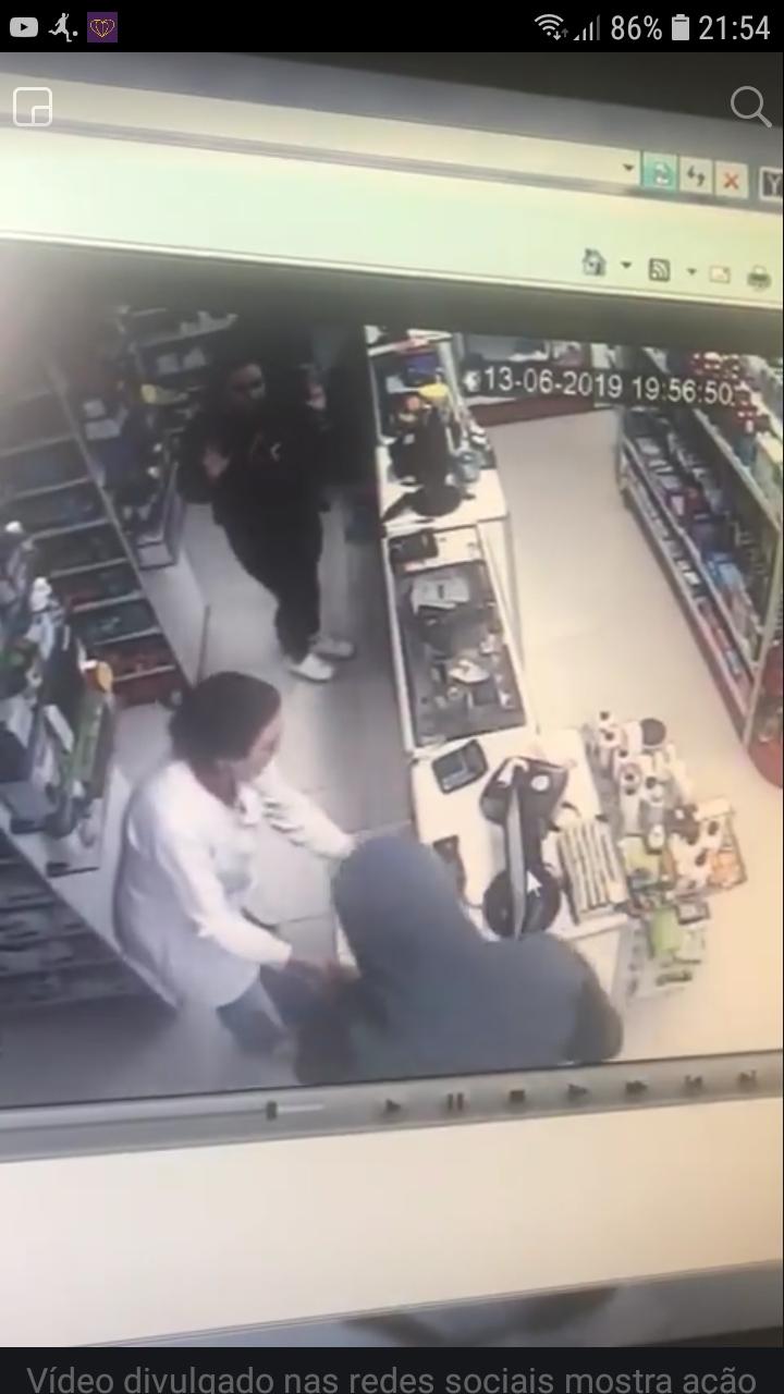 Homem armado com revólver assalta farmácia em Concórdia