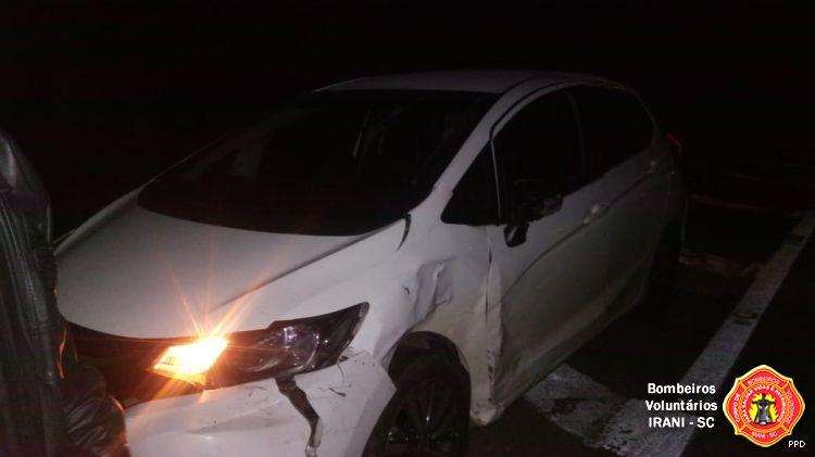Uma pessoa ferida em colisão no trevão do Irani