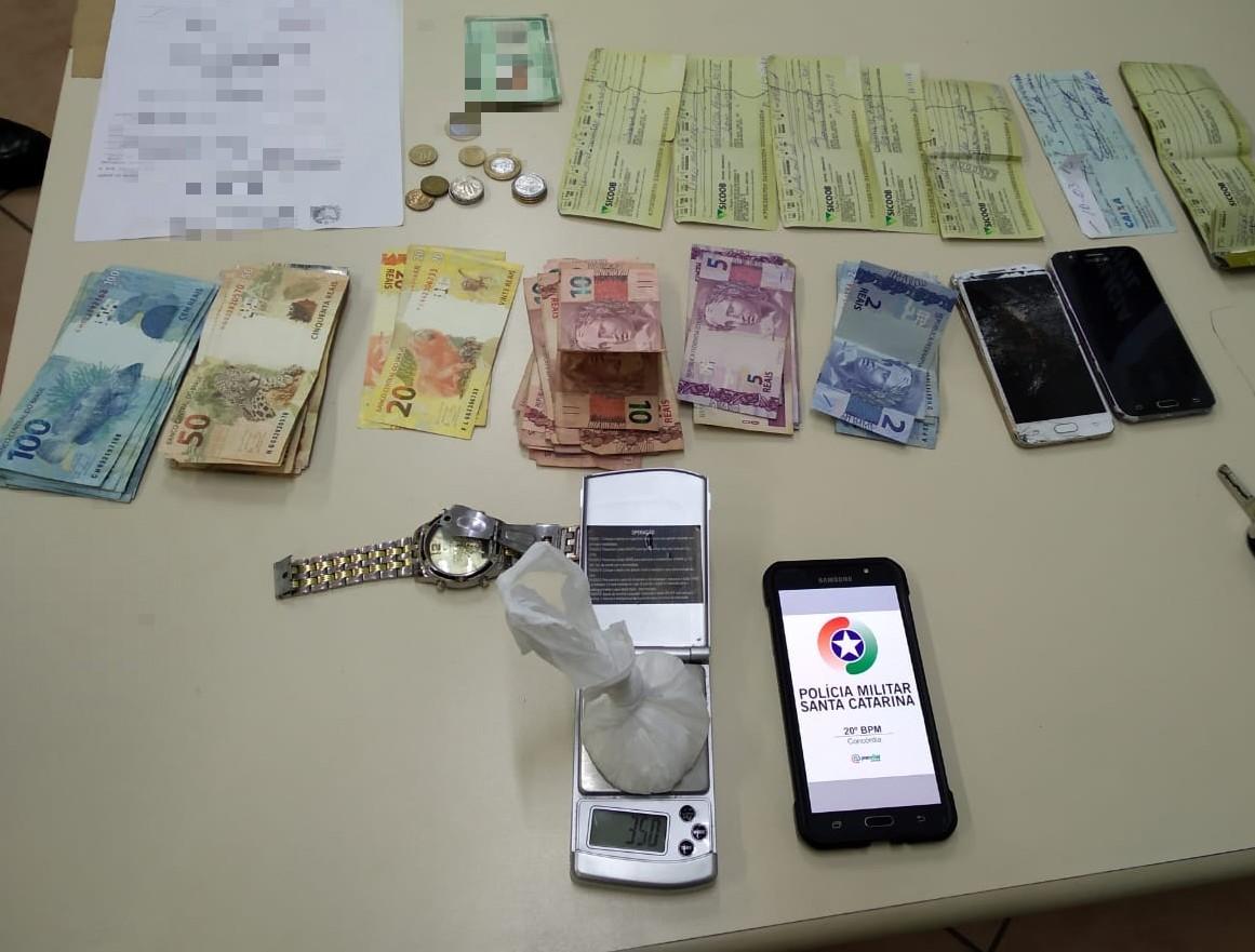 PM registra duas ocorrências de tráfico de drogas em Concórdia