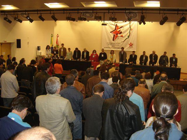 Delegados municipais do PT em Concórdia participam de Congresso Estadual da sigla