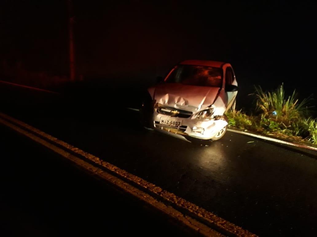 Veículos de Seara se envolvem acidente próximo ao cemitério