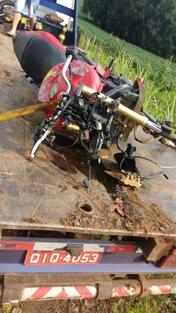 Homem que trabalha em Piratuba sofre acidente de moto em Campos Novos