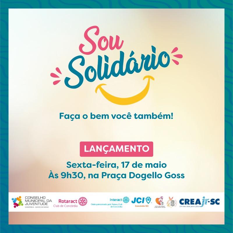 Campanha Sou Solidário inicia nesta sexta-feira