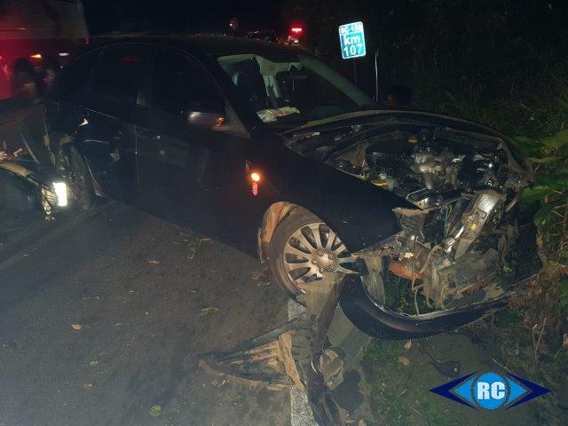 Veículo de Jaborá se envolve em acidente na SC 150 em Lacerdópolis